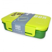 6th Dimensions Premium Lunch Box Air tight and Microwave Safe with Spoon (Green)