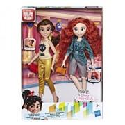 Set papusi Disney Princess Comfy I - Belle si Merida