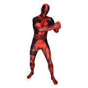 Vegaoo Maskeraddräkt Morphsuits Zapper Deadpool vuxen M (max 160 cm)