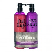 Tigi Bed Head Dumb Blonde Shampoo 1500Ml 750Ml Bed Head Dumb Blonde Shampoo + 750Ml Bed Head Dumb Blonde Reconstructor Shampoo And Conditioner For Blonde Damaged Hair Per Donna (Cosmetic)