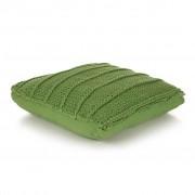vidaXL Coussin de plancher carré Coton tricoté 60 x 60 cm Vert