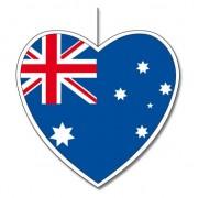 Merkloos Australie decoratie hart 14 cm