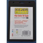 Suport PP tip flip, pentru carduri, 74 x 105mm, orizontal, 5 buc/set, KEJEA - negru