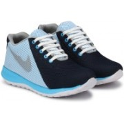 Shoe Island ® Popular Active-X ™ Ultra Light Trending Meshed Sky Blue 'n' Black High Ankle Length Casual Sports Sneakers Sneakers For Men(Blue, Black, White)