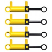 LEGO LEGO Technic 4 pcs NEW YELLOW MINI PNEUMATIC PISTON CYLINDERS Air pressure Pump pack lot set switch hose small little robot robotics