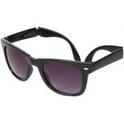 Aligatorr Stylish Grey Double Shade Folding Wayfarer Unisex UV400 Sunglass