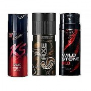 Best Deodorant Combo SPARK DARK TEMPTATION and RED (Set of 3 pcs)-150 ml each.