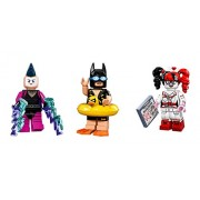 LEGO Lego Batman on Vacation Mime and Harley Quinn Minifigures Lego Batman Movie