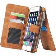 Capa Tipo Carteira Multifuncional Caseme para iPhone 6 Plus/6S Plus - Castanho