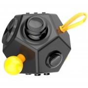 Juguete de descompresión de Rubik de 12 caras-amarillo