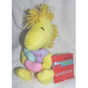"Peanuts Snoopy 8"" Plush Valetnies WOODSTOCK with Hearts Bean Bag Doll"