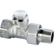 Heimeier instelbaar+afsluitbaar radiator koppeling 1/2recht