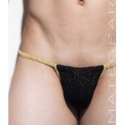 Mategear Hae Sang I Seamless Xpression Series Mini Active Bikini Swimwear Black/Gold 1250403