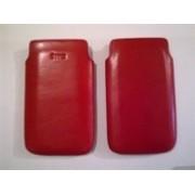 Червен калъф за HTC HD 7 от естествена кожа