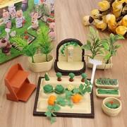 Aissimio Dollhouse Furniture Miniatures Furniture Farming Gardening Set for Sylvanian Families
