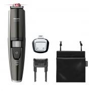 Masina de tuns barba Philips BT9297/15, Lame 100% metal, Ghidaj Laser, 0.4 - 7 mm, 17 Trepte, Rezistent la apa, LED, Negru/Argintiu