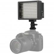 Hd-160 LED De Luz Blanca Luz De Video En Camara Fotografia Iluminacion Luz De Relleno Para Canon, Nikon, Cámara Réflex Digital Con 3 Placas De Filtro