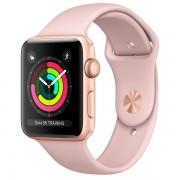 Apple Watch Series 3 42mm Aluminum Case with Sport Band MQL22 Rose Gold (Спортивный ремешок цвета розовый песок)