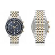 Emporio Armani Two-Tone Mens Chronograph Watch