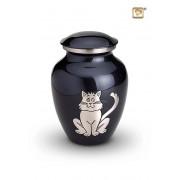Messing kattenurn Grijze Poes (1 liter)