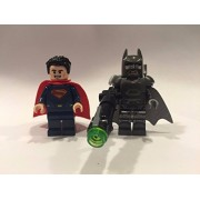 LEGO Minifigures - Set of 2 Batman and Superman from 76044 Clash of the Heroes. No Packaging.