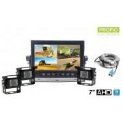 """Cuvacia kamera do auta s monitorem set 7"""" HD + 3x HD kamera"""