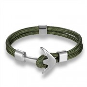 Paracord Horgony Karkötő - Navy Design - Army Green