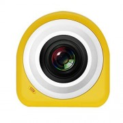 Wanzi2 Free Paste to The WiFi 1080p HD, cámara portátil Impermeable para Viajes de día Festivo con Mando a Distancia para el hogar, Amarillo, Una Talla