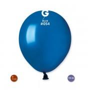 Lufi (metál) sötét kék, 13cm, gömb, 100 db/cs