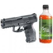 Set pistol airsoft arc si flacon 2700 buc bile 0.12 grame 0.5 jouli Umarex HK VP9