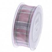 Szalag kockás 40mmx20m rózaszín ezüst
