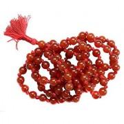 REBUY Red Agate Hakik Japa Mala 108 and 1 Beads (6 mm) Rosary