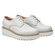 Apple of Eden derby-schoenen met plateau, 40 - offwhite