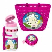 Stamp accessoiresset Animals roze 3 delig