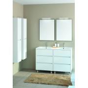 Salgar Mobile bagno 1200 in legno laccato bianco lucido con lavabo Arenys