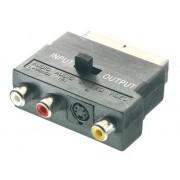 Vivanco Adaptador Euro a 3RCA+S-VHS In/Out VIVANCO