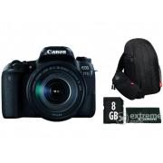 Kit Aparat foto Canon EOS 77D (cu un obiectiv 18-135 IS USM) + geanta Canon + 8GB SD + laveta