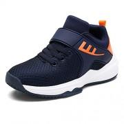 PARTyu Zapatillas de Tenis con Cordones Transpirables para niños, Azul, 11 MX M Niño Grande