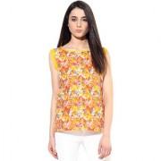 Jaipur Kurtis Pure Cotton Graphic Print Sleeve less Multicolor Kurti
