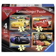 Ravensburger puzzelset Disney Cars 3 Let's race! - 12 + 16 + 20 + 24 stukjes