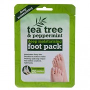 Xpel Tea Tree Tea Tree & Peppermint Deep Moisturising Foot Pack krem do stóp 1 szt dla kobiet