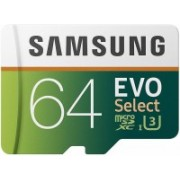 Samsung Evo Select 64 GB MicroSDXC Class 10 100 MB/s Memory Card
