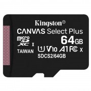 Kingston Canvas Select Plus Card MicroSD 64GB Class 10 A1