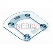 Cantar electronic Victronic, 180 kg, Platforma de sticla, Transparent