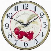 Roger Lascelles Pendule murale 36cm Le temps des cerises