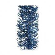 Decoris Donkerblauwe golf kerstslinger 10 cm breed x 270 cm versiering