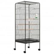 Sonata Клетка за птици, сива, 54x54x146 см, стомана