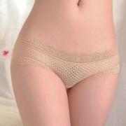 V&V Dámské prodyšné kalhotky s bambusovým vláknem (tělová barva) - V&V