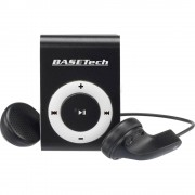 MP3 reproduktor Basetech BT-MP-100 0 GB crni/bijeli kopča za pričvršćivanje