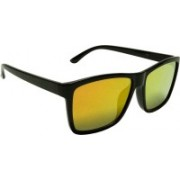 Mangal Brothers Retro Square Sunglasses(Yellow, Red)
